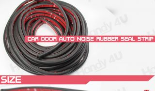 "118"" Car Door Rubber Edge Trim Molding Universal Seal Strip Free 3M Adhesive D3"