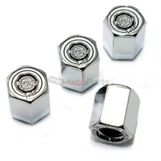 4 Chrysler Silver Logo Chrome ABS Tire Wheel Pressure Air Stem Valve Caps Covers