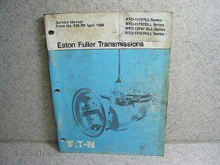 Eaton Fuller Service Manual Transmissions Roadranger RTO 11707LL 11707DLL