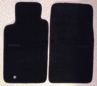 2002 2005 Ford Thunderbird Floor Car Mats Black w Thunderbird Monogram