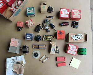 Antique Radio Parts Big Lot D Coils Condenser Rheostat More