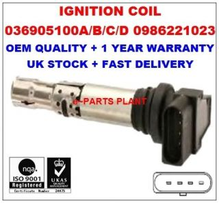 VW Audi Skoda Seat Ignition Coils 036905100A 036905715