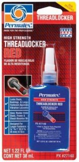 Permatex 27140 High Strength Threadlocker Thread Lock Red 1 22 Oz