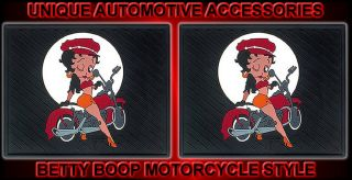 2pc Betty Boop Motorcycle Rear Utility Car Floor Mats