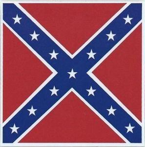 "3""x3"" Confederate CSA Rebel Flag Bumper Sticker Decal Truck Stickers Car Decals"