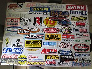 Lot of 50 Large Racing Stickers NASCAR NHRA Drag Sprint Stock Car Decals