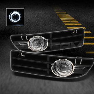 99 05 VW Jetta Halo Projector Fog Lights w Switch Wiring Harness Bulbs