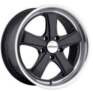 19 Ruger Classic Wheels Black Porsche Boxster Cayman 986 987 s Concave
