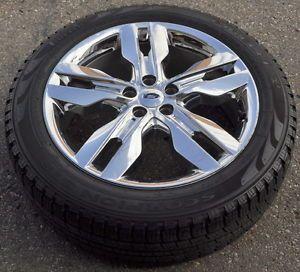 "20"" Ford Edge Used Chrome Clad Wheel Rim Tire 3847"