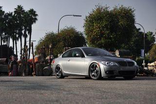 "19"" Eurotek UO8 Matte Black Staggered Rims Wheels Fits BMW F30 328 335"