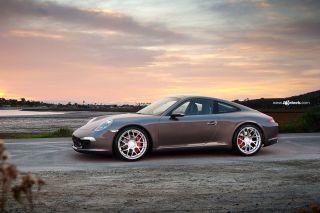 """19"""" Ruger Mesh Black Concave Wheels Rims Fits Porsche 997 911 Carrera 2 s 2S 4"""