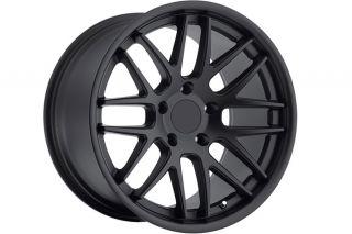 """19"""" Roderick RW6 Black Concave Wheels Rims Fits Porsche 911 997 Carrera 4S GT3"""