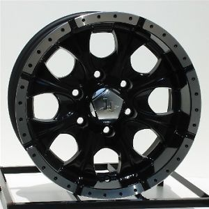 16 inch Black Wheels Rims Chevy GMC Sierra 6 Lug 1500 Truck GM Yukon Helo Maxx 6