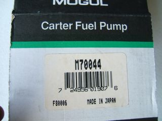 Carter M70044 Fuel Pump Nissan Datsun J15 Forklift Industrial Engines