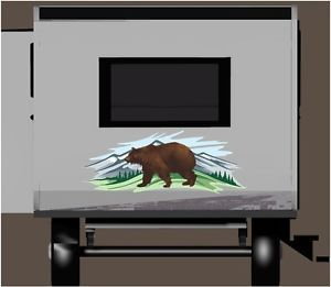 Brown Bear in Woods Car Truck Hood Decal camper RV motorhome Mural Graphic
