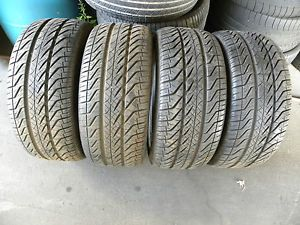 "235 45 17 Kumho Ecsta ASX All Season Set of 4 Used Tires "" "" No Repair"