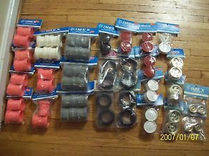 Imex Lot of 26 RC Car Truck Parts Tires Wheels Rims Jumbo Dawg JRX2 More