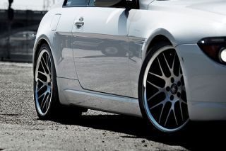 """20"""" Infiniti G35 Coupe Roderick RW6 Concave Black Staggered Wheels Rims"""