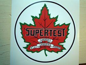Supertest Canadian Gas Petrol Pump Car Stickers 6in Round Vintage Retro Custom