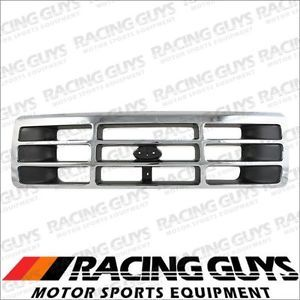 Ford 92 96 F150 F250 F350 Bronco Chrome Grille Grill Front Body Parts F4TZ8200A
