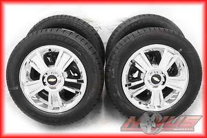 "20"" Chevy Tahoe LTZ Silverado GMC Yukon Chrome Wheels Goodyear Tires 22 GM"