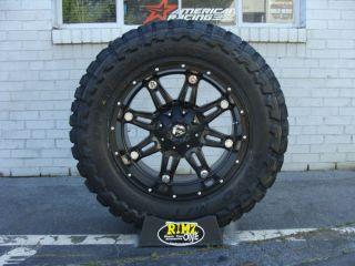 "20"" Fuel Off Road Hostage Black Toyo MT 33x12 50R20 33"" Mud Tires Rimzoneonline"