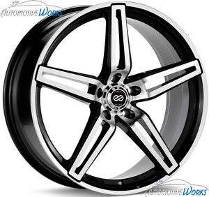 20x8 5 Enkei RAZR 5x110 40mm Black Machined Rims Wheels inch 20""