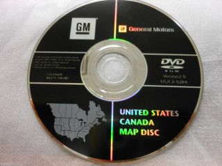 Cadillac GM Chevrolet Hummer Navigation DVD ROM Disc 15105609 86271 70V581
