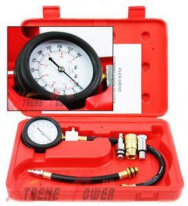 New Gas Engine Compression Tester Testing Gauge Kit Automotive Tool Pro Set Auto