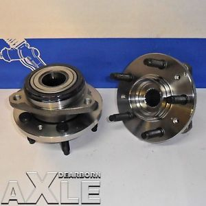 2 Front Wheel Hub Bearing Assembly 5 Lug Set Pair 3156