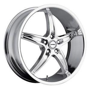 22 inch Strada Riga Chrome Wheels Rims 5x115 300C Charger Magnum Challenger AWD