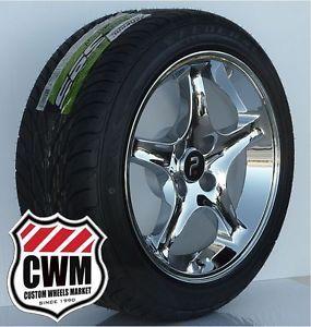 "17x9"" Cobra R Chrome Wheels Rims 4 Lug 18mm Offset Tires Fit Ford Mustang 79 93"