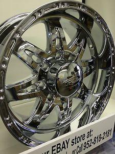 18 inch Chrome Raceline Renegade 8 Bolt Wheels Rims Ford F 250 F 350 Excursion