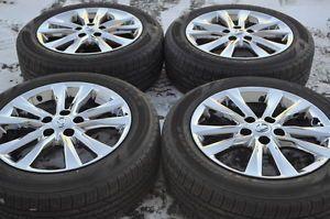 "Lexus ES350 17"" Chrome Wheels Rims Tires Factory Stock Wheels 74224"