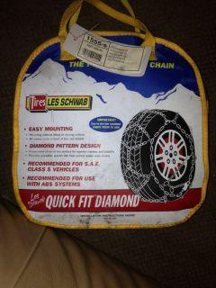 New Les Schwab Snow Tire Chains 1555s 1555 s Diamond R15 R16 R 15 16
