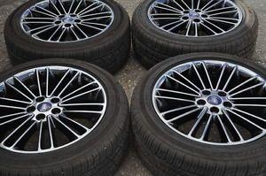 "18"" Ford Fusion Black Chrome Wheels Rims Tires 2013 2014"