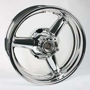 17''Rear Motorcycle Chrome Plated Wheels Rims Suzuki GSXR 600 750 1997 1998 1999