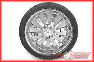 "24"" Tyfun Wheels Chrome Cadillac Escalade Chevy Tahoe GMC Yukon Tires 22 20 26"
