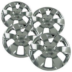 "4 PC Set 16"" Universal Chrome Hub Caps Wheel Covers Rim Skins for Steel Wheels"
