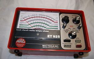Mac Tools Et 925 Tach Dwell Volts Amps Ohms Meter in Case