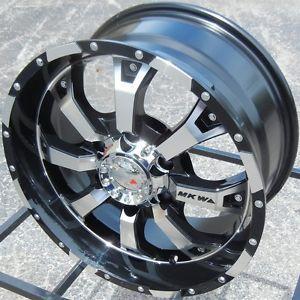 "17"" Black MKW MK46 Wheels Rims Chevy Silverado Tahoe Suburban GMC Sierra Tacoma"