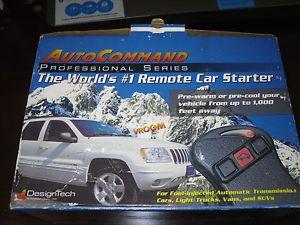 Design Tech Remote Control Car Starter Professional Series Auto Command 40026