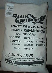 Quik Grip Light Truck Tire Snow Chains Stock QG4219CAM New
