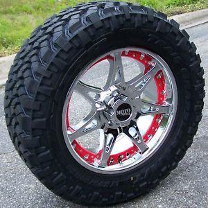 "20"" Chrome Motometal 961 Wheels Nitto Trail Grappler Tires Toyota Tundra 5x150"