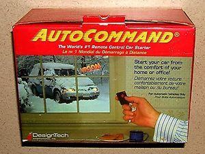 Designtech Auto Command Model 20023 Remote Control Car Starter New in Box