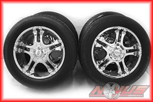 """20"""" American Racing 603 Chevy Tahoe Silverado GMC Yukon Chrome Wheels Tires 22"""