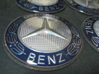 Blue Mercedes Benz Wheel Center Caps Sticker 75mm