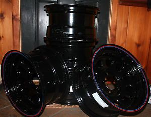"""15"""" Black Steel American Racing Rims"""