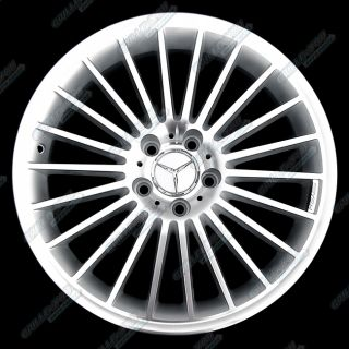 Mercedes Benz C E s CL CLK Series Wheels 18x8 5 Rims with Central Caps 4 New