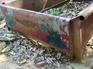 Chevy Truck Bed Sides 1947 1954 Rough Rusty Torched at Holes from Fender Bolts